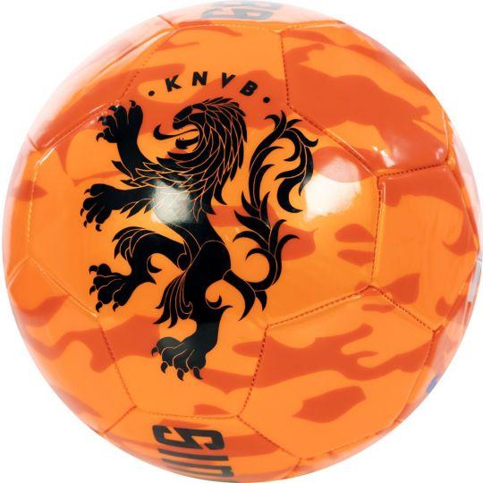 KNVB Voetbal Camo Oranje Maat 5