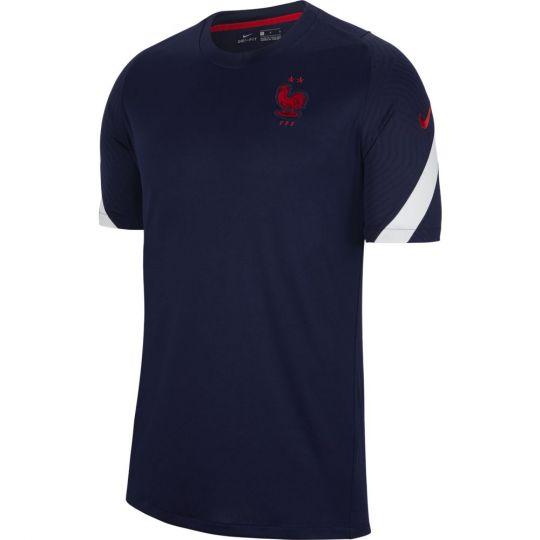 Nike Frankrijk Strike Trainingsshirt 2020-2022 Donkerblauw