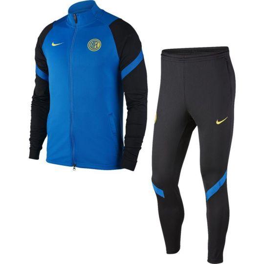 Nike Inter Milan Dry Strike Trainingspak 2020-2021 Blauw Zwart