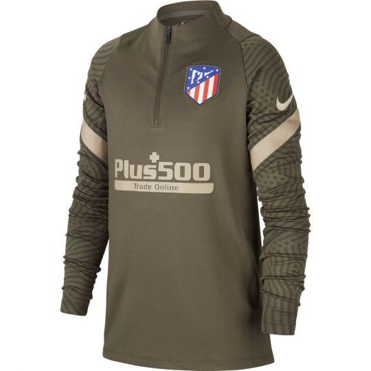Nike Atletico Madrid Dry Strike Trainingstrui 2020-2021 Groen Kids
