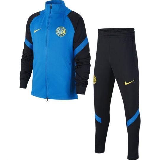 Nike Inter Milan Dry Strike Trainingspak 2020-2021 Kids Blauw Zwart