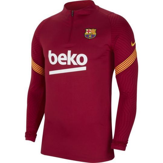 Nike FC Barcelona Dry Strike Trainingstrui 2020-2021 Kids Rood