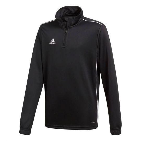 adidas Core 18 Trainingstrui Half Zip Kids  Black White