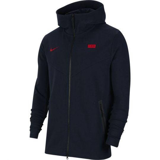 Nike Frankrijk NSW Tech Fleece Pack Hoodie FZ 2020-2022 Donkerblauw