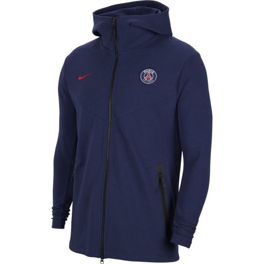 Nike Paris Saint Germain NSW Tech Fleece Pack Hoodie 2020-2021 Donkerblauw Rood