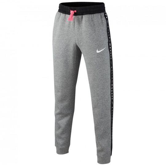 Nike KM HYBRID Fleece Trainingsbroek KPZ Kids Grijs Roze