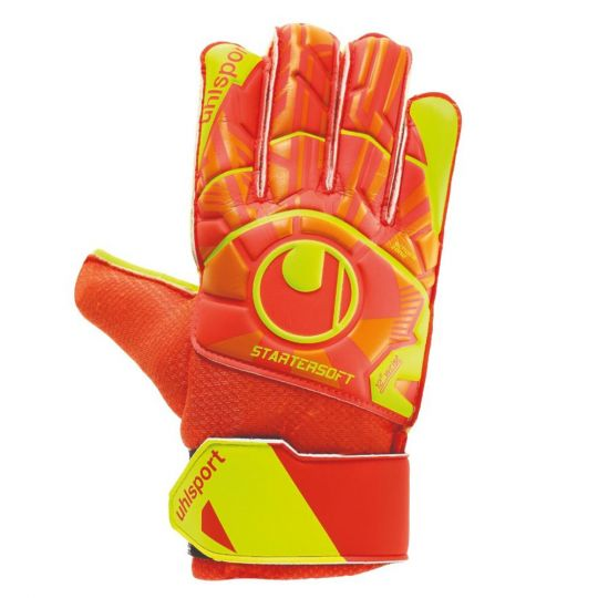 UHLSPORT DYNAMIC IMPULSE STARTER SOFT Keepershandschoenen Oranje Geel