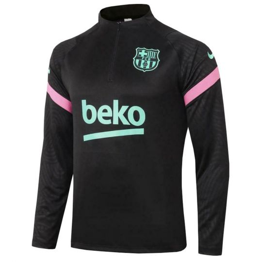 Nike FC Barcelona Dry Strike Trainingstrui 2020-2021 Zwart