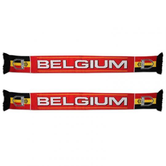 Gebreide sjaal Belgium rood