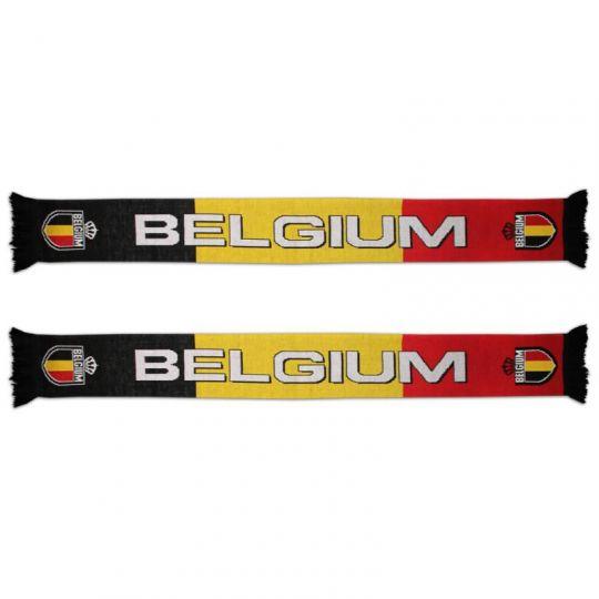 Gebreide sjaal Belgium zwart-geel-rood