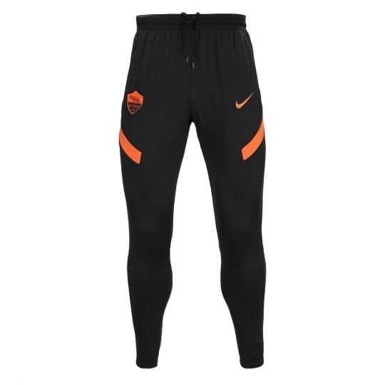 Nike AS Roma Dry Strike Trainingsbroek KP 2020-2021 Zwart Oranje