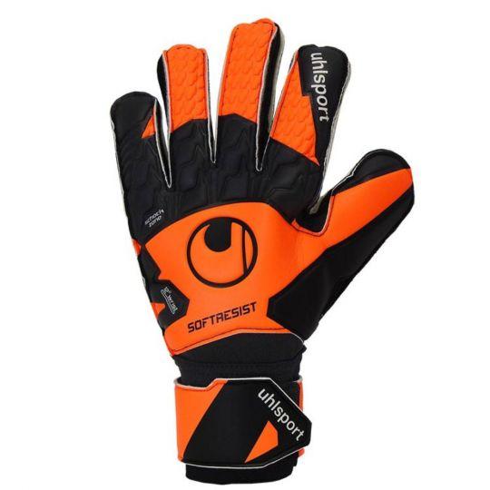 UHLSPORT SOFT RESIST Keepershandschoenen Zwart Oranje Wit