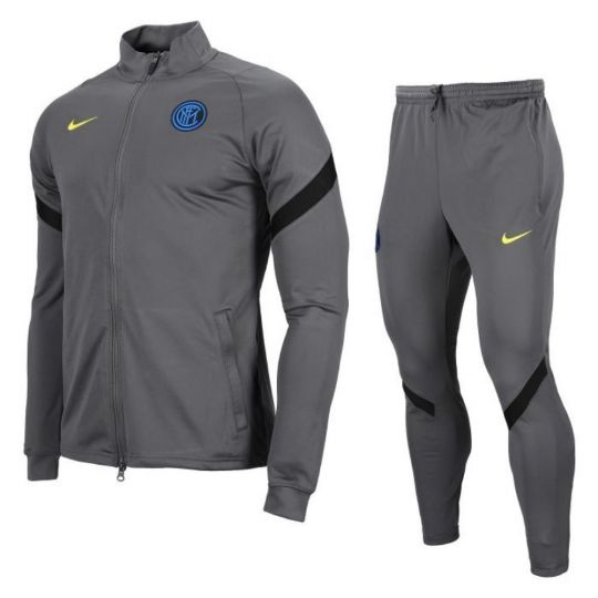 Nike Inter Milan Dry Strike Trainingspak CL 2020-2021 Kids Donkergrijs