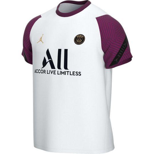 Nike Paris Saint Germain Strike Trainingsshirt 2020-2021 Kids Wit Bordeauxrood