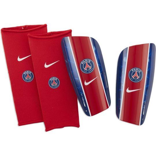 Nike Paris Saint Germain Mercurial Lite Scheenbeschermer Rood Donkerblauw Wit