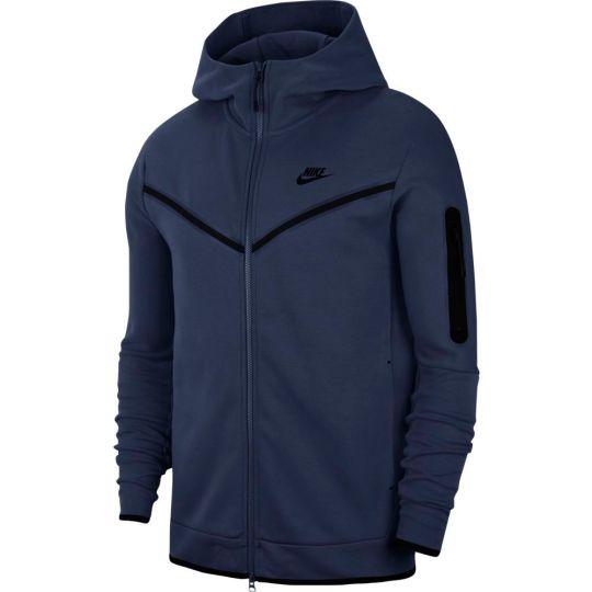 Nike Tech Fleece Hoodie Full Zip Windrunner Donkerblauw Zwart