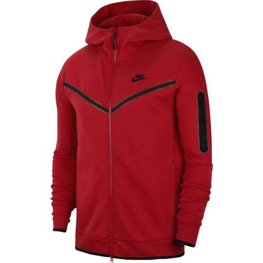 Nike Tech Fleece Hoodie Full Zip Windrunner Rood Zwart