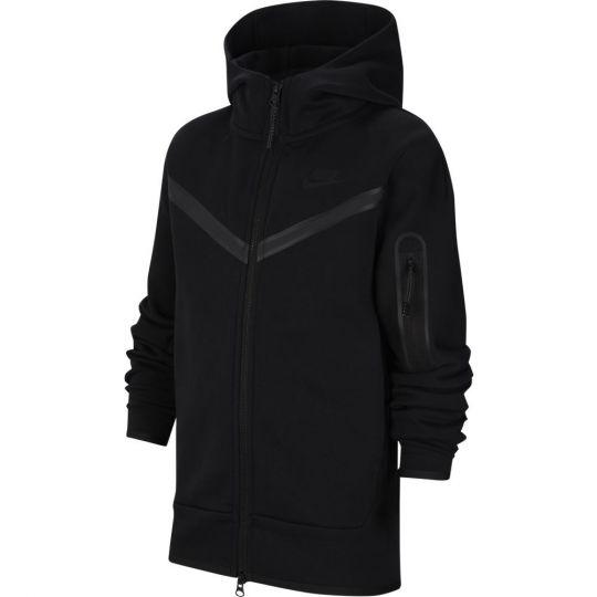 Nike NSW Tech Fleece Full Zip Hoodie Kids Zwart Zwart Zwart