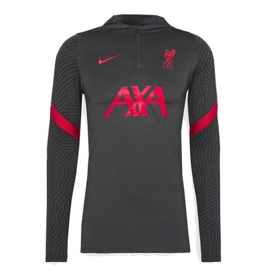 Nike Liverpool Dry Strike Trainingstrui 2020-2021 Antraciet