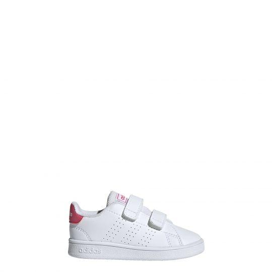 adidas Advantage Sneaker Peuters Wit Roze