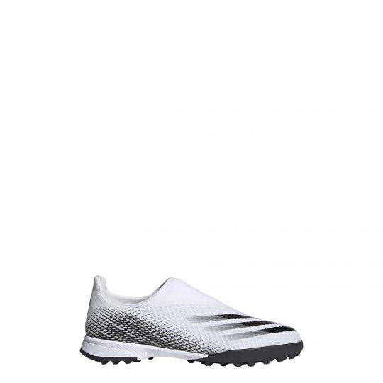 adidas X Ghosted.3 LL Turf Voetbalschoenen (TF) Kids Wit Zwart