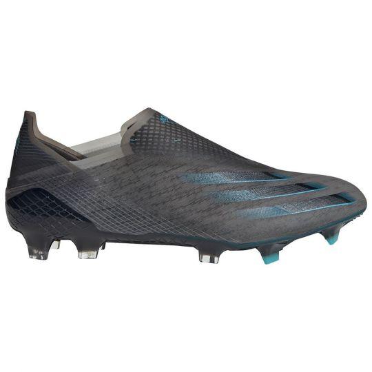 adidas X GHOSTED+ GRAS VOETBALSCHOENEN (FG) Zwart Zwart Blauw