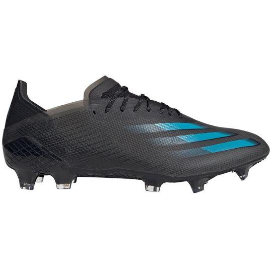 adidas X GHOSTED.1 Gras Voetbalschoenen (FG) Zwart Blauw Grijs