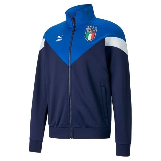 PUMA Italie Iconic MCS Trainingsjack 2020-2022 Blauw