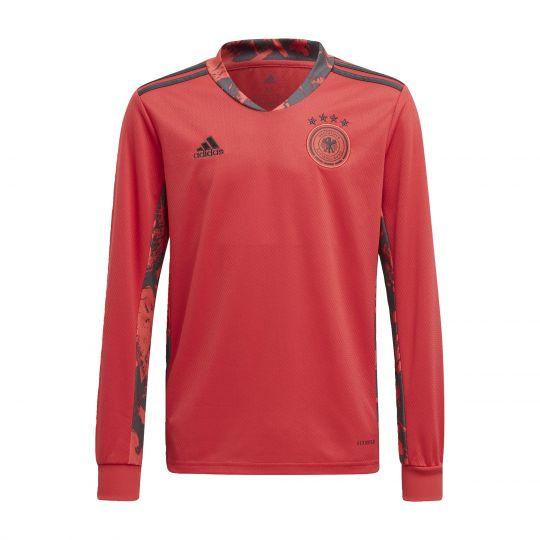 adidas Duitsland Keepersshirt Thuis 2020 Kids Rood Zwart