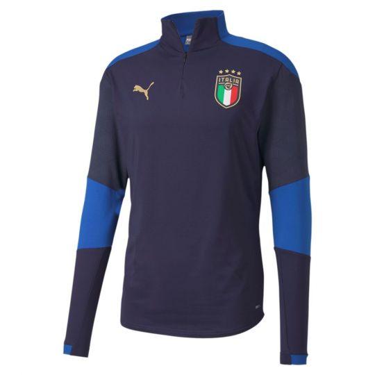 PUMA Italië 1/4 Zip Trainingstrui 2020-2022 Donkerblauw
