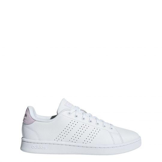adidas Advantage Sneaker Dames Wit Roze Wit