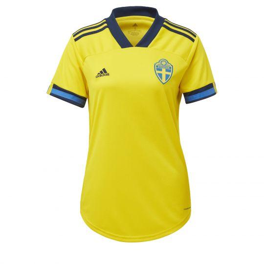 adidas Zweden Thuisshirt 2020-2021 Dames Geel Blauw Zwart