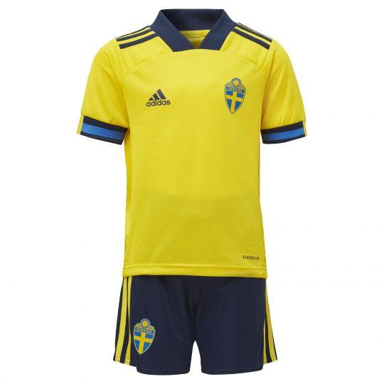 adidas Zweden Mini-Thuistenue 2020-2021 Kids Geel Blauw Zwart