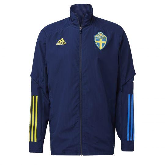 adidas Zweden Presentatie Jack 2020-2021 Blauw Geel
