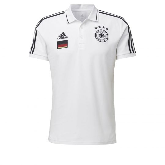 adidas Duitsland 3S Polo 2020-2021 Wit