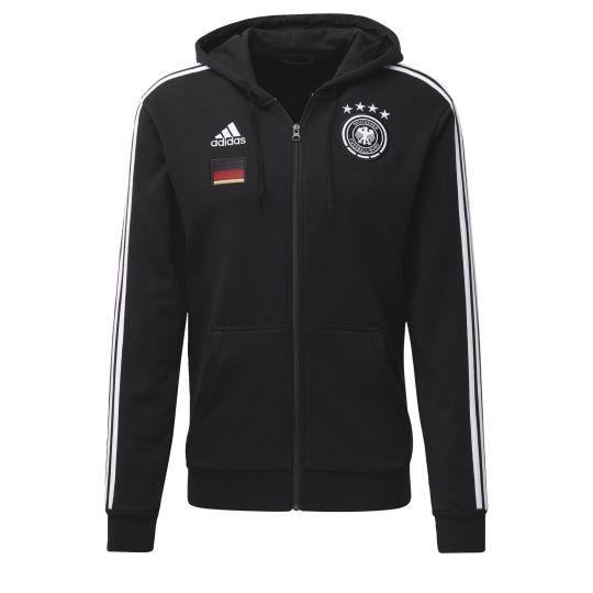 adidas Duitsland FZ Hoodie 2020-2021 Zwart