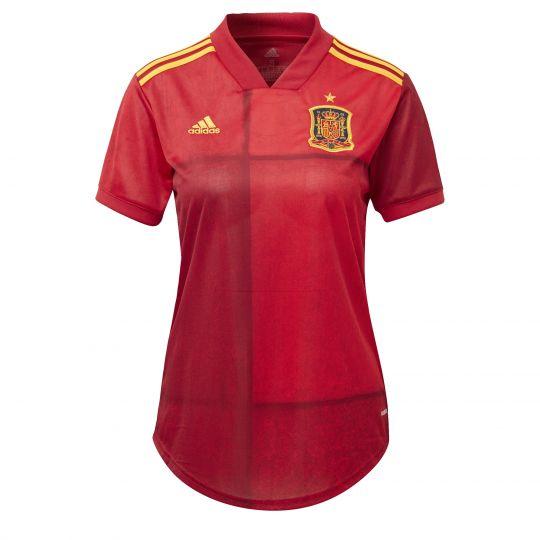 adidas Spanje Thuisshirt 2020-2021 Dames Rood Geel