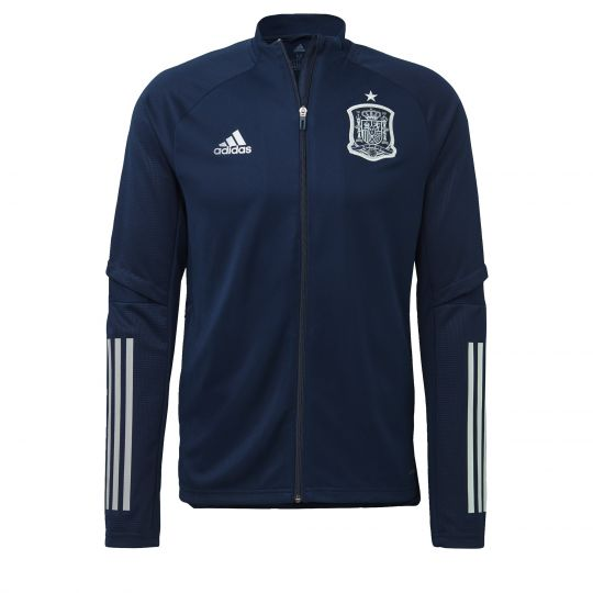 adidas Spanje Presentatie Trainingsjack 2020-2021 Donkerblauw Wit