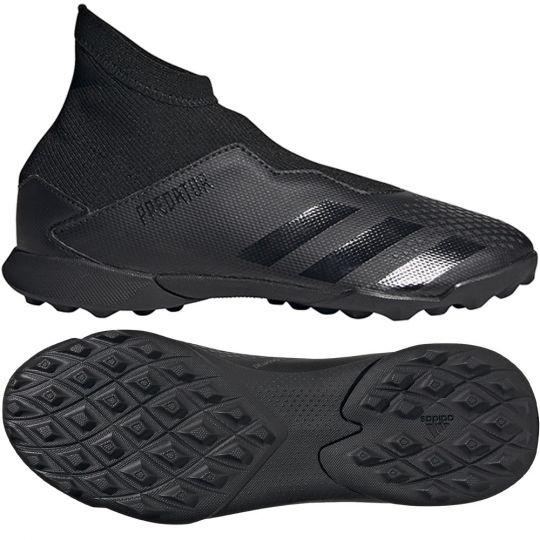 adidas PREDATOR 20.3 LL Turf Voetbalschoenen (TF) Zwart Zwart Grijs Kids