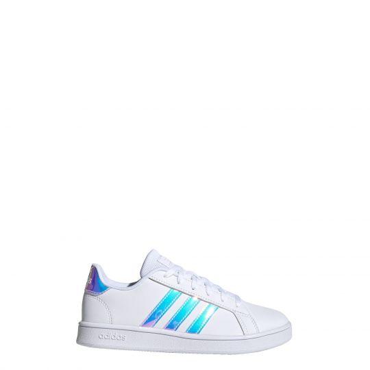 adidas Grand Court Schoenen Wit Blauw Kids