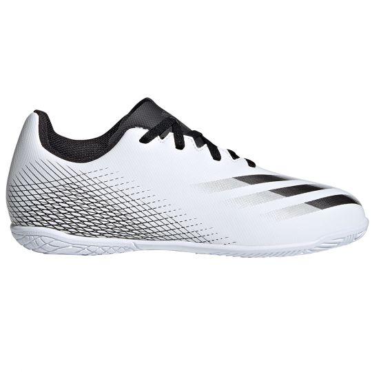 adidas X GHOSTED.4 ZAALVOETBALSCHOENEN (IN) Kids Wit Zwart Zilver