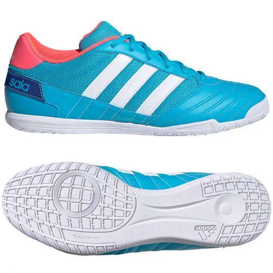 adidas Super Sala Zaalvoetbalschoenen (IN) Blauw Wit Roze