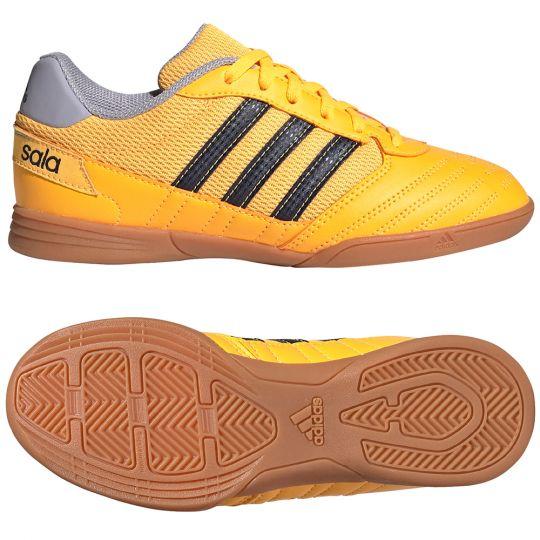 adidas Super Sala Zaalvoetbalschoenen Kids Goud Donkerblauw