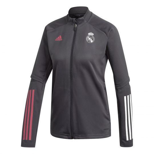 adidas Real Madrid Trainingsjack 2020-2021 Vrouwen Grijs