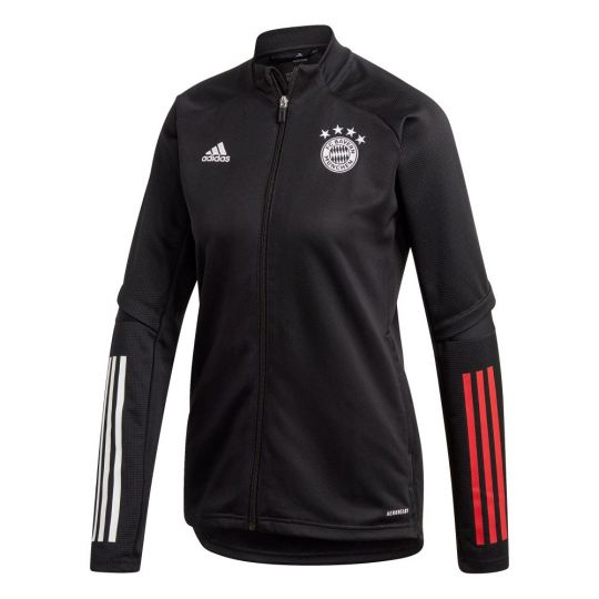 adidas Bayern Munchen Trainingsjack 2020-2021 Vrouwen Zwart Rood
