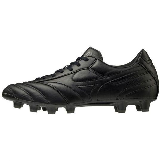Mizuno Morelia II Pro Gras Voetbalschoenen (FG) Zwart Zwart
