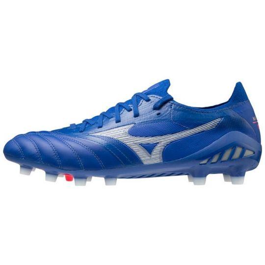 Mizuno Morelia Neo 3 Elite Reflex Gras Voetbalschoenen (FG) Blauw Wit