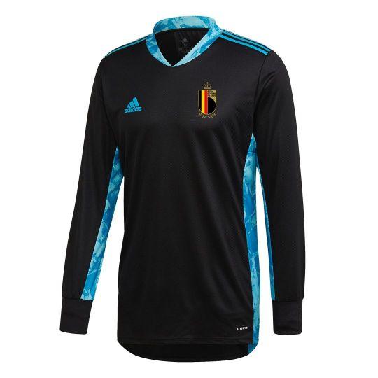 adidas Belgie Keepersshirt Lange Mouwen 2020 Zwart Blauw