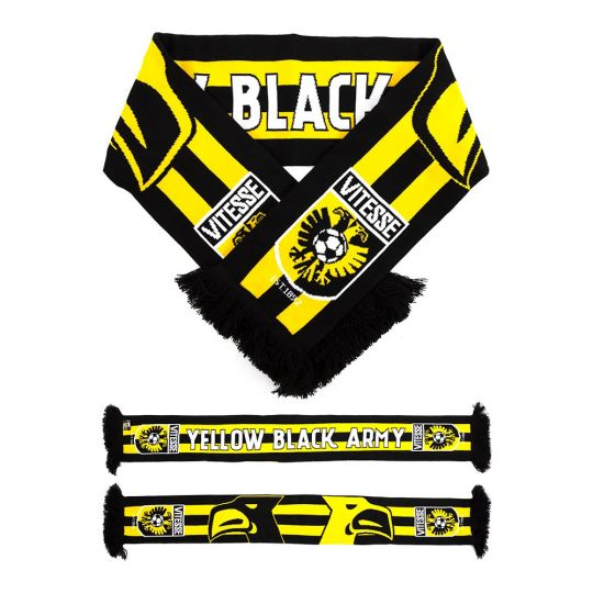 Vitesse Fansjaal Yellow Black Army