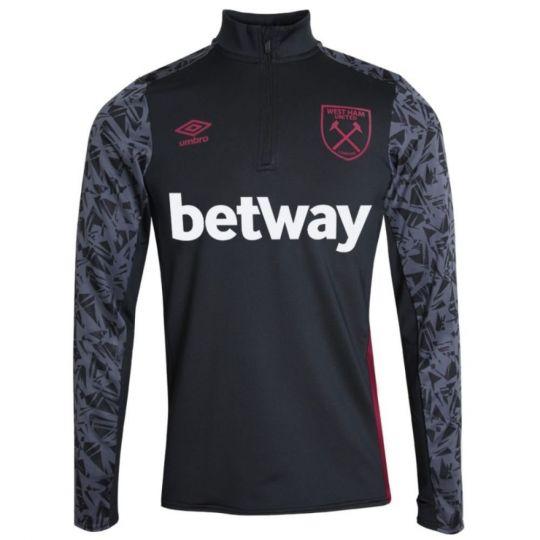 UMBRO West Ham United Trainingstrui HZ 2020-2021 Zwart